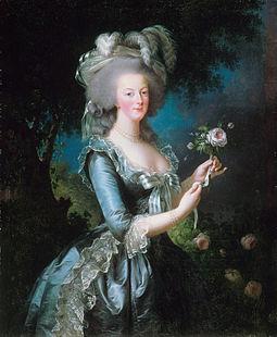 瑪麗‧安東尼皇后過著極度揮霍奢華生活,最終在法國大革命中被送上斷頭台。(維基百科)