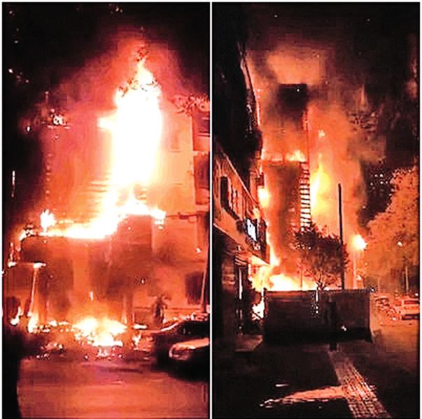 西安一派出所火災 周邊大面積停電