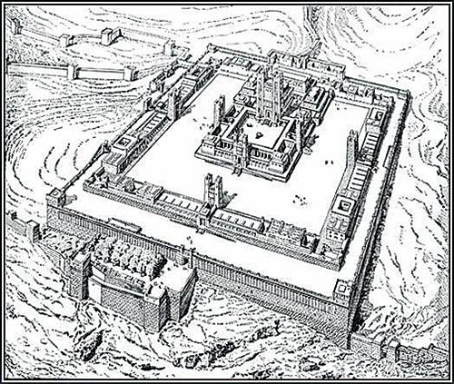 19世紀繪製的第三聖殿想像圖。(公有領域)