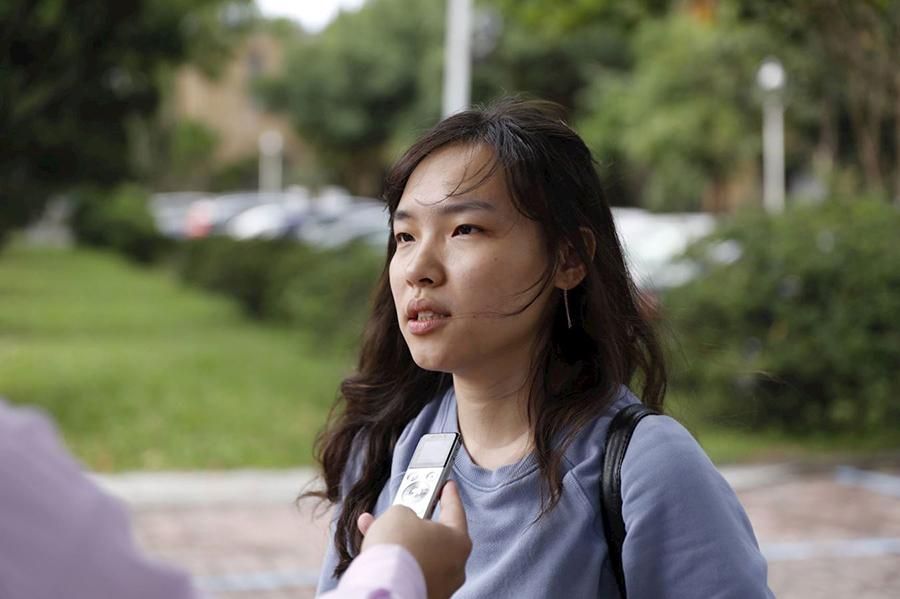 台大博士生張瑄凌表示,修煉後真正明白甚麼是真,如何善良地對待別人,為人著想。(明慧網圖片)
