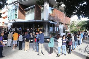 台灣選舉民進黨挫敗 柯文哲連任台北市長