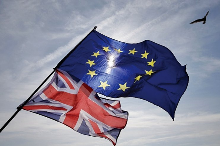 周日(11月25日),歐盟一致同意簽署英國和歐盟的「脫歐草案」,但英國脫歐仍前途未卜。(AFP)