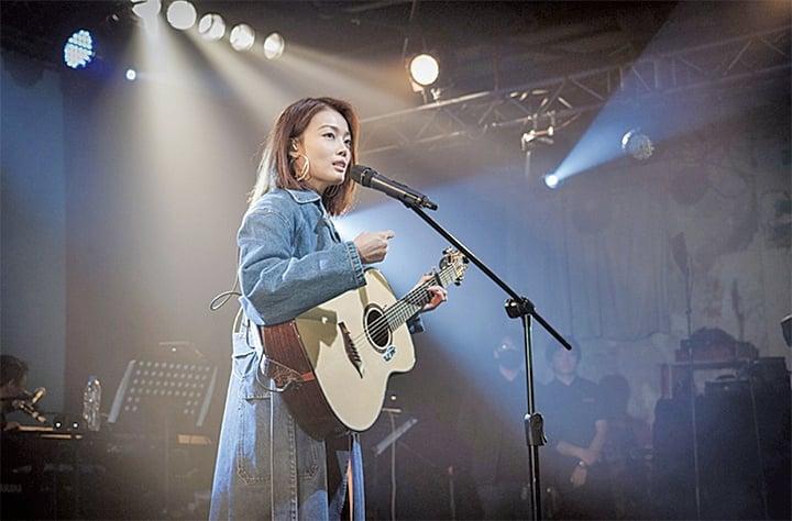 容祖兒(Joey)25日在台北Legacy舉辦小型個唱。(英皇提供)