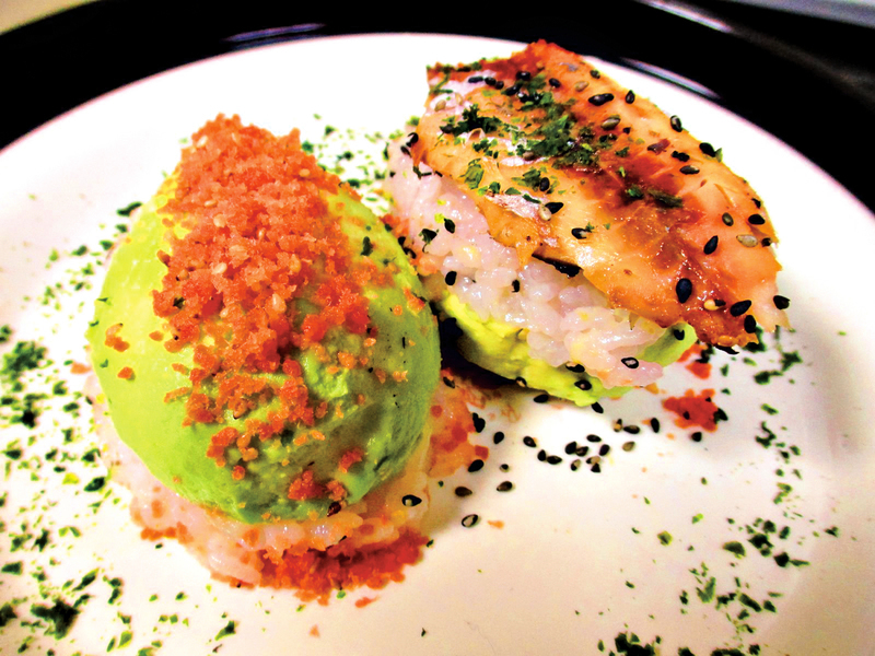 日式風味 : 雙味牛油果押壽司