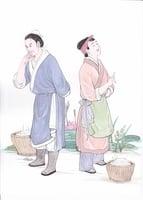 巧農婦爭道難東坡
