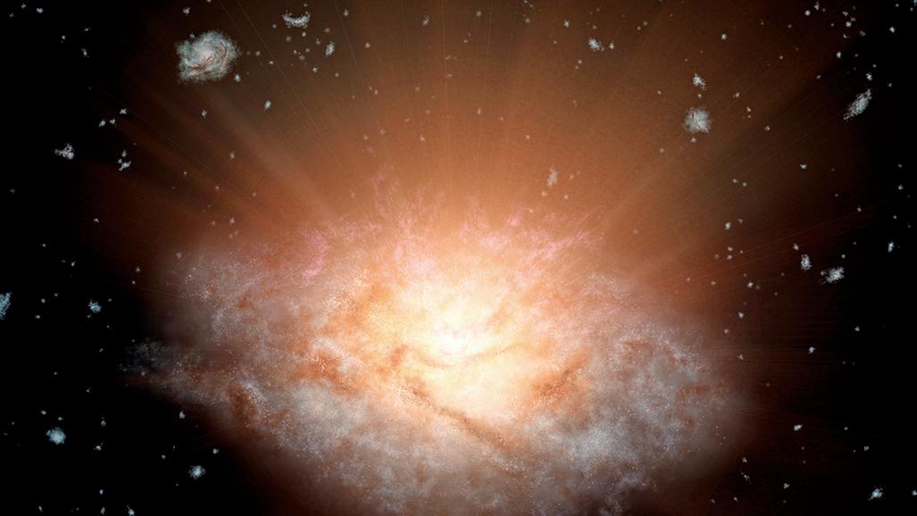 宇宙最亮星系吞併鄰居來獲取能量