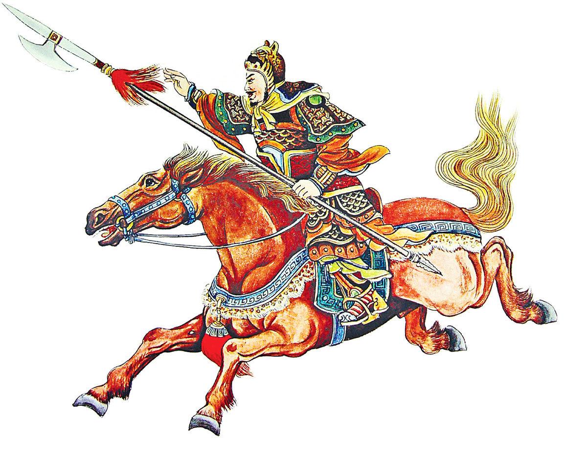 後唐太祖李克用一箭射雙鵰。(王雙寬提供)