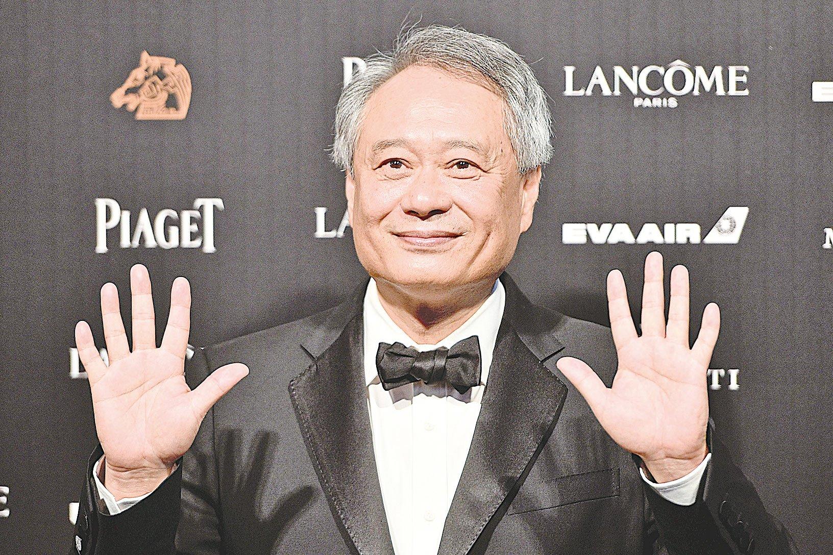 台灣導演李安在55屆金馬獎頒獎儀式上。 (Photo credit should read SAM YEH/AFP/Getty Images)
