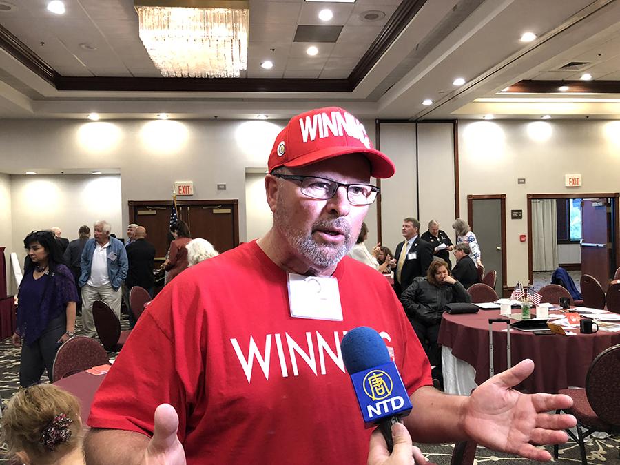 Dane Senser先生是「新加州」San Luis Obispo縣主席,他說,大紀元做的是真正的新聞。(大紀元)