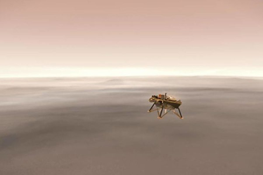 周一(11月26日)下午,美國太空總署(NASA)宣佈,洞察號火星探測器(InSight Lander)已經成功降落在這顆紅色星球的表面,結束了持續六個月、超過3億哩的旅程。(Credits: NASA/JPL-Caltech)