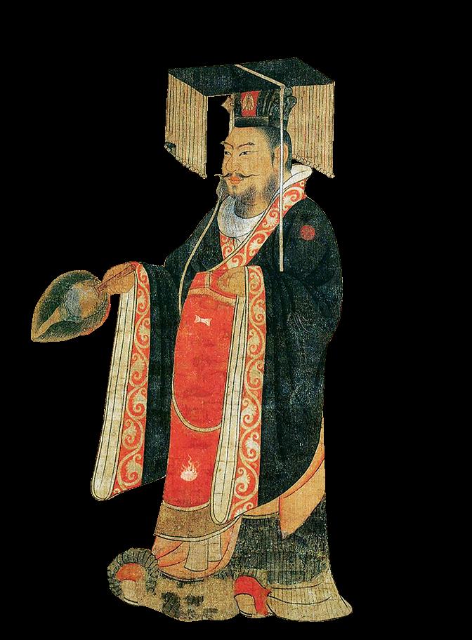 吳大帝孫權像。 唐· 閻立本《古帝王圖》局部。(維基百科)