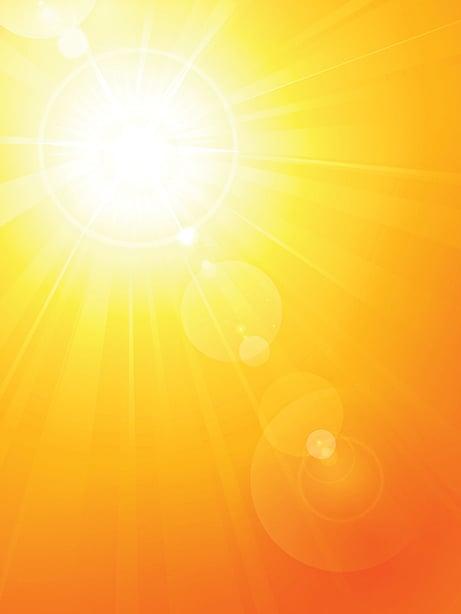 赤色,也被認為是太陽的顏色,意在陽明、熱烈。(fotolia)