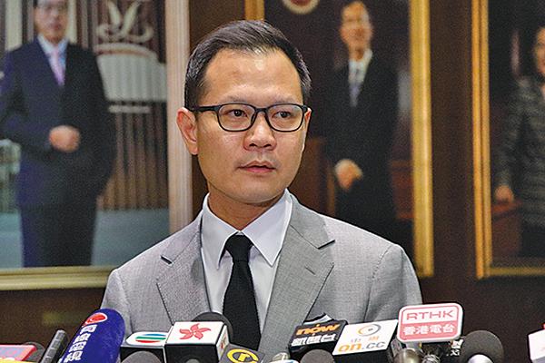 專業議政召集人郭榮鏗下月出訪美國,屆時將游說當地政商界維持香港獨立關稅區地位。(蔡雯文/大紀元)