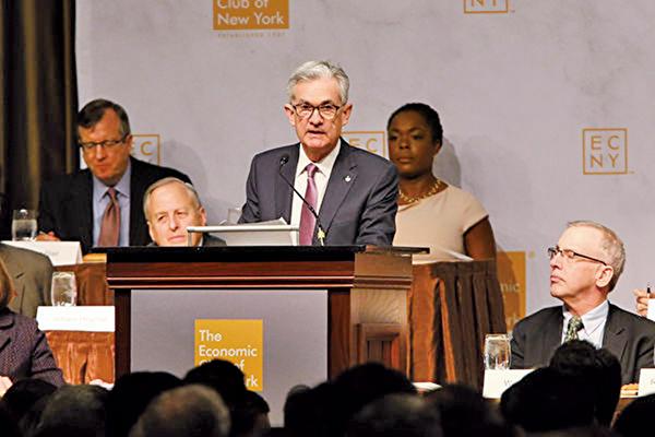 周三(11月28日),美聯儲局主席鮑威爾指目前基準利率已接近中性水平,刺激美股大漲超過2%。(Spencer Platt/Getty Images)