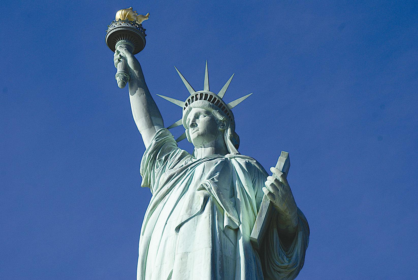 圖為美國自由女神像。(Fotolia)