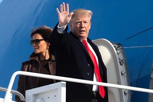 美中或達貿易協議 特朗普登機前重申不著急
