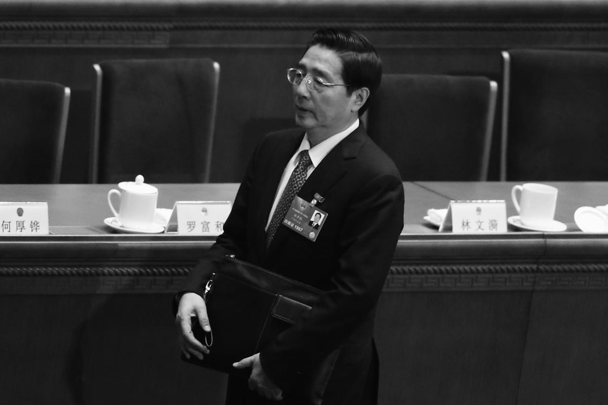 中共政法委書記郭聲琨近日高唱讚歌,動作頻頻。分析認為,恰恰折射的是北京暗流仍未平息,意在趁習近平離京時添亂。圖為郭聲琨。(Feng Li/Getty Images)