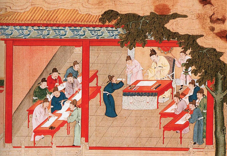 幾千年來,傳道授業解惑的經世大事——教育,關係到國家興衰、文化傳承、個人命運。明代繪畫中的宋代殿試。(公有領域)