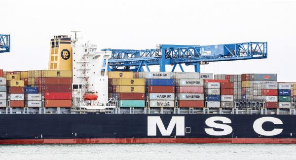 美國紐約港來自世界各地的集裝箱,其中包括很多來自中國的集裝箱。(大紀元資料室)