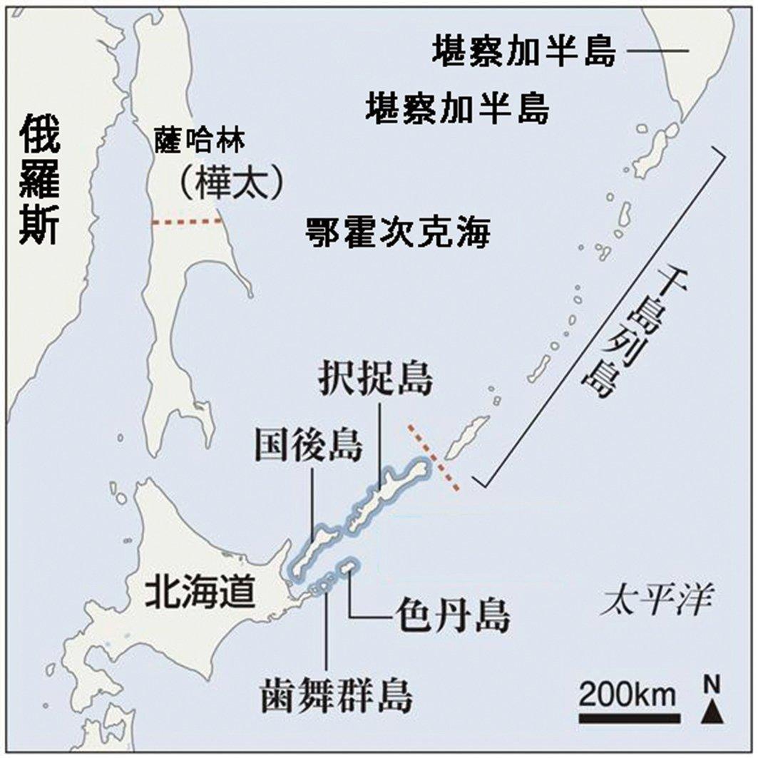 北方四島所在位置。(網絡圖片)