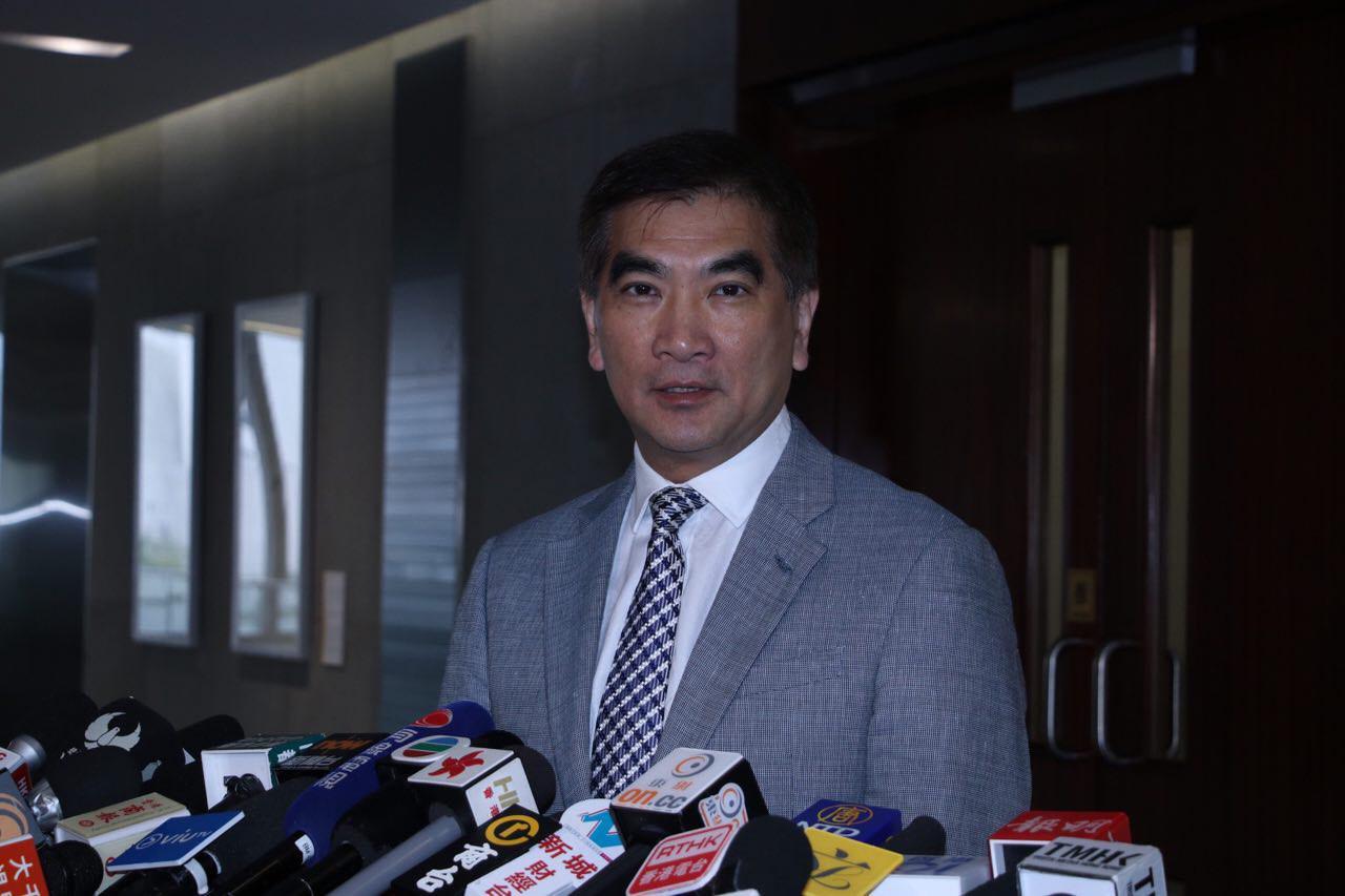 自由黨立法會議員鍾國斌認為香港在知識產權上做好會成優勢,吸引商機。(蔡雯文/大紀元)