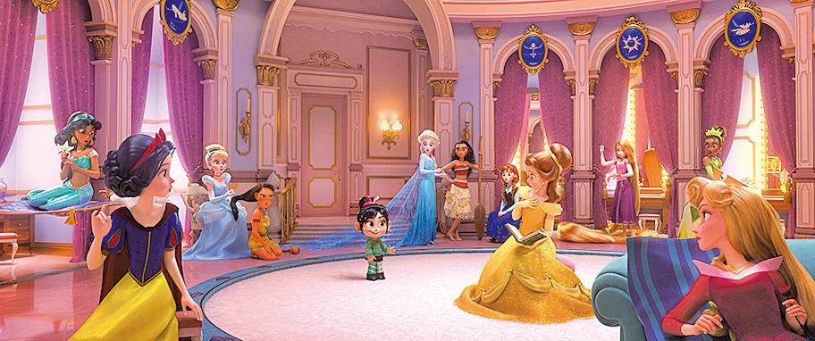 電影藉雲妮露闖入迪士尼的網絡世界,讓她與所有迪士尼公主結緣。