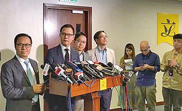 專業議政立法會議員回應何志平賄賂案,強調香港不做中共白手套。(影片截圖)