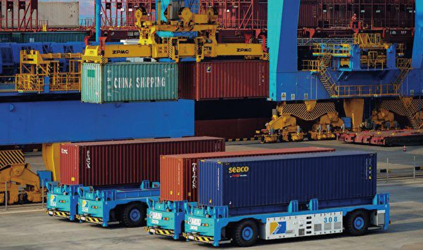 大陸官方數據顯示,大陸11月的進出口總值增速較10月的分別下降了13.9%和10.2%。圖為示意圖。 (Getty Images)