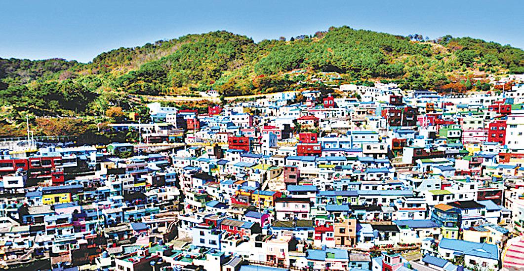 甘川文化村景色。