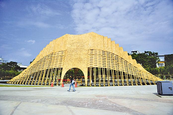 由台中在地企業贊助的「竹跡館」。