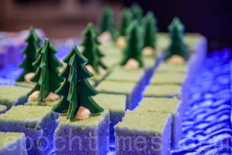 聖誕樹造型甜品。(米芝Gi提供)