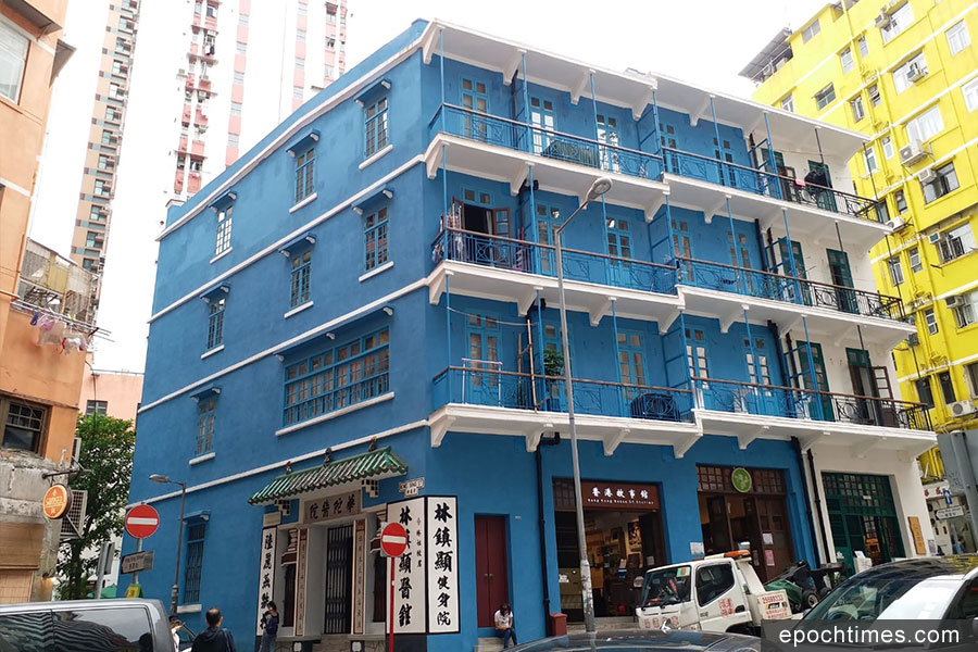 位於灣仔石水渠街的藍屋,是Khamsay喜愛的香港地點之一。(受訪者提供)