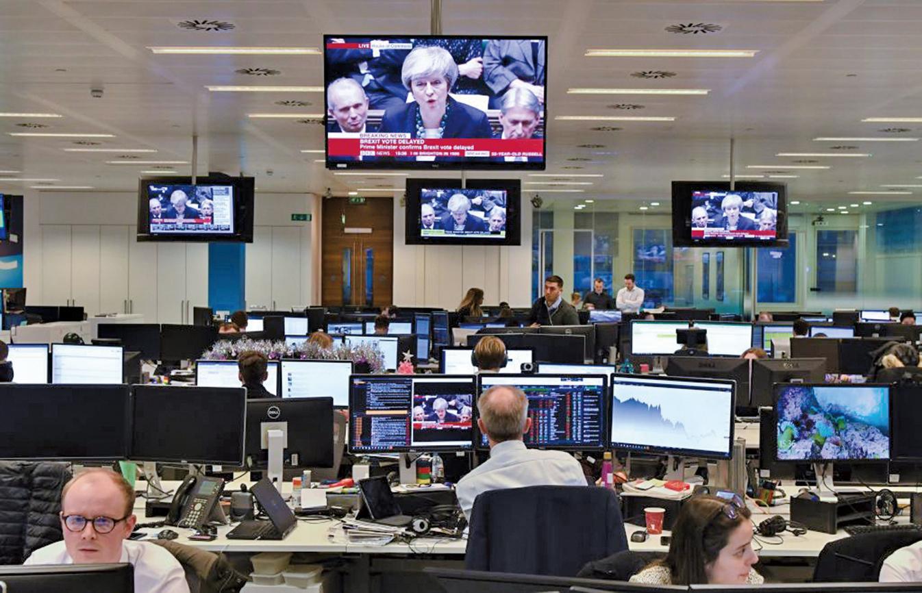 2018年12月10日,英國首相文翠珊宣佈押後脫歐協議表決,並將和歐盟進一步討論「邊境保障措施」。(AFP)