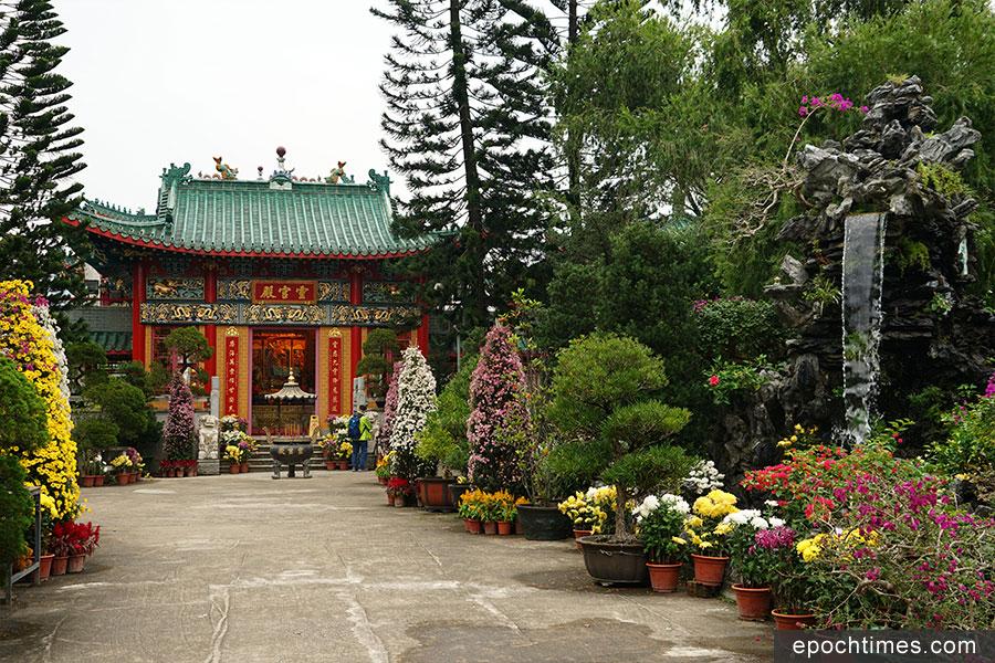 雲泉仙館每逢冬季舉行菊展。(陳仲明/大紀元)