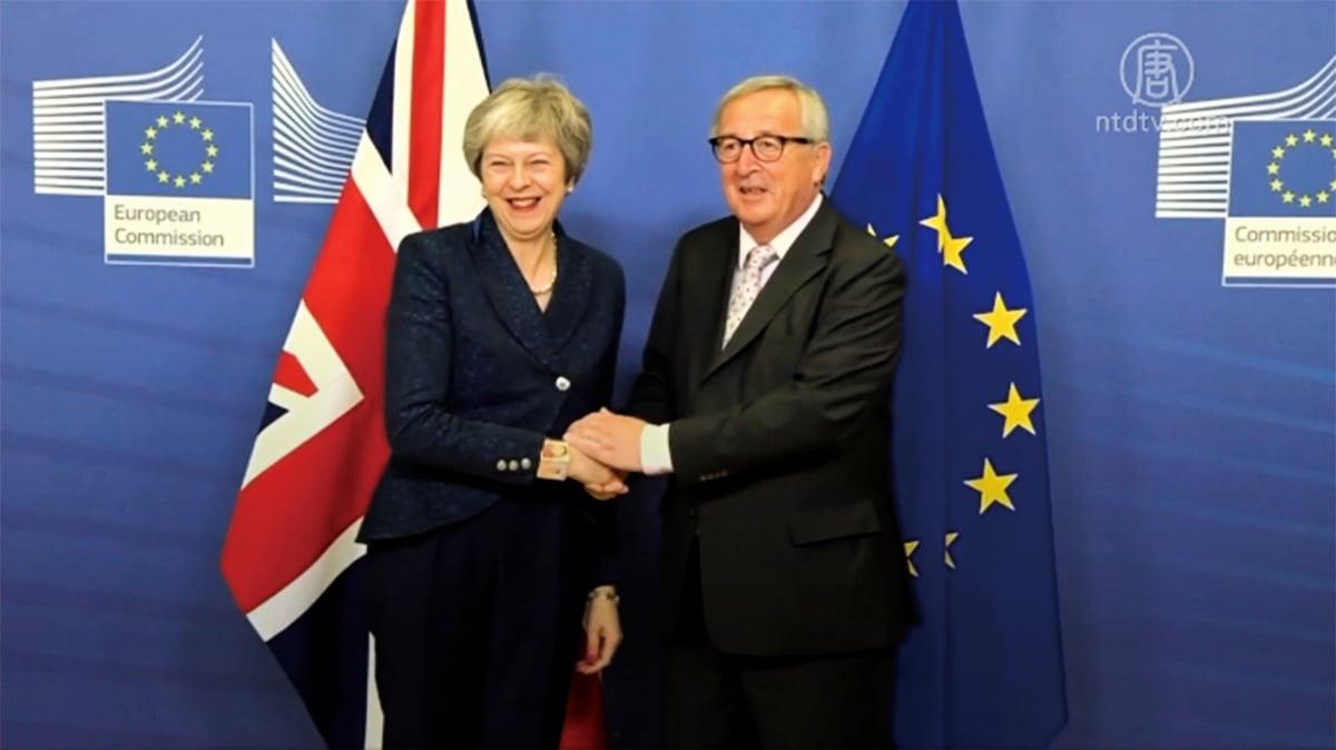 對英首相文翠珊的不信任投票,最終以200票支持,117票反對,讓文翠珊暫時保住了首相職位。(AFP)