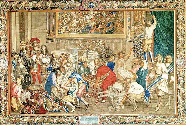 〈1667年10月15日路易十四視察戈布蘭工藝廠〉。(公有領域)