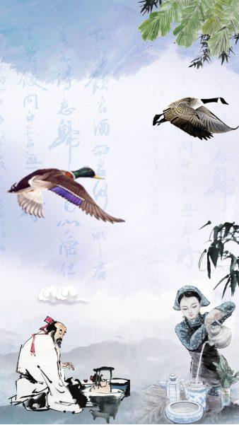 妙筆生花:鴻雁幾時到,江湖秋水多。(示意圖:希望之聲合成)