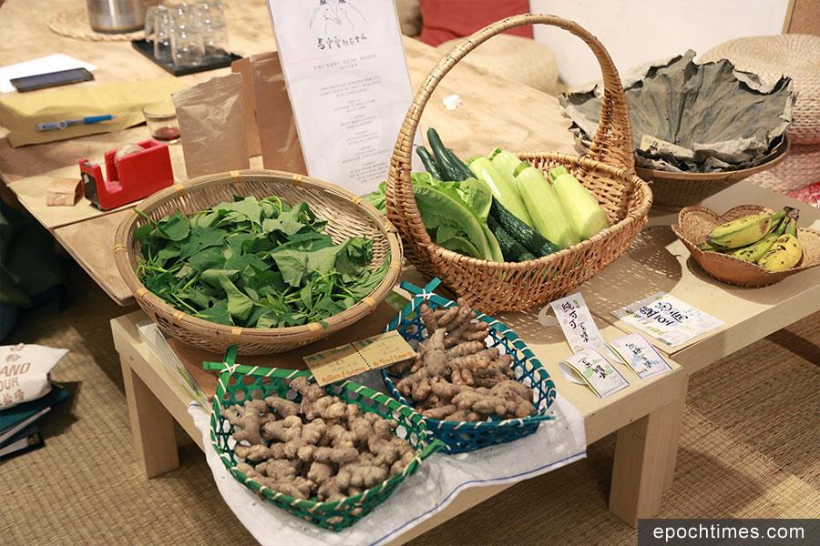 「一步步」售賣的蔬菜,均來自本地永續發展的有機農場。(陳仲明/大紀元)