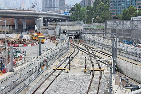 沙中線紅磡站屢被揭發工程造假涉及「削筋」問題。(資料圖片)