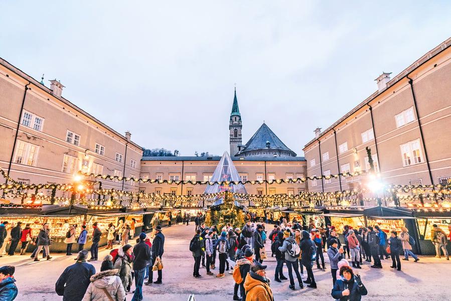 聖誕氣息濃 奧地利薩爾斯堡 聖嬰市場