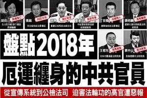 盤點2018年厄運纏身的中共官員