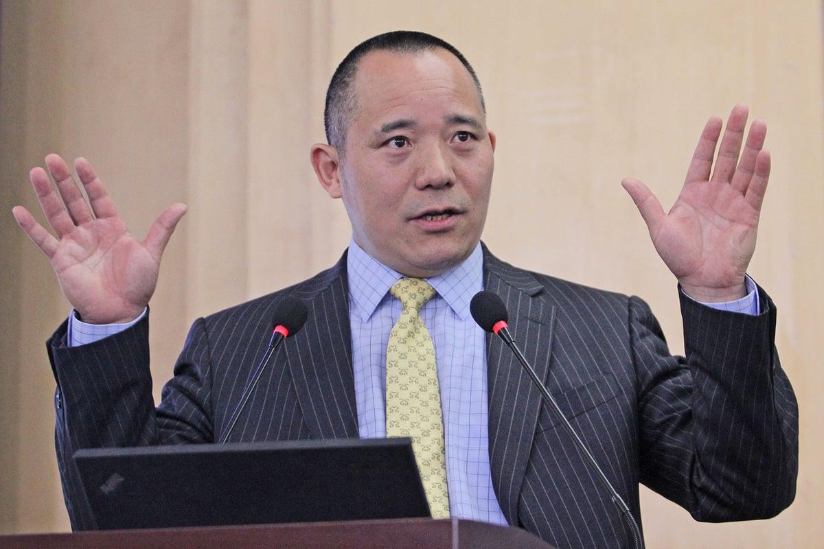 中國人民大學國際貨幣研究所理事兼副所長向松祚近日發表演講。(大紀元資料室)