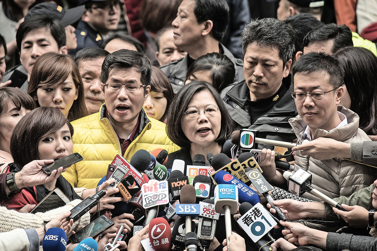 台灣民眾對媒體的信任度江河日下,除了因為中共滲透外,媒體泛政治化亦是主因之一。(AFP/Getty Images)