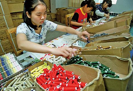2000年以來,華東沿海地區雖經濟增長,但中國私營企業仍然缺乏銀行資本和政府支持。(AFP)
