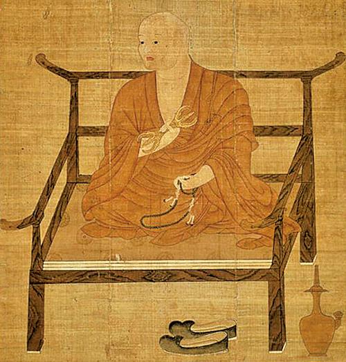 日本僧人空海畫像。(公有領域)