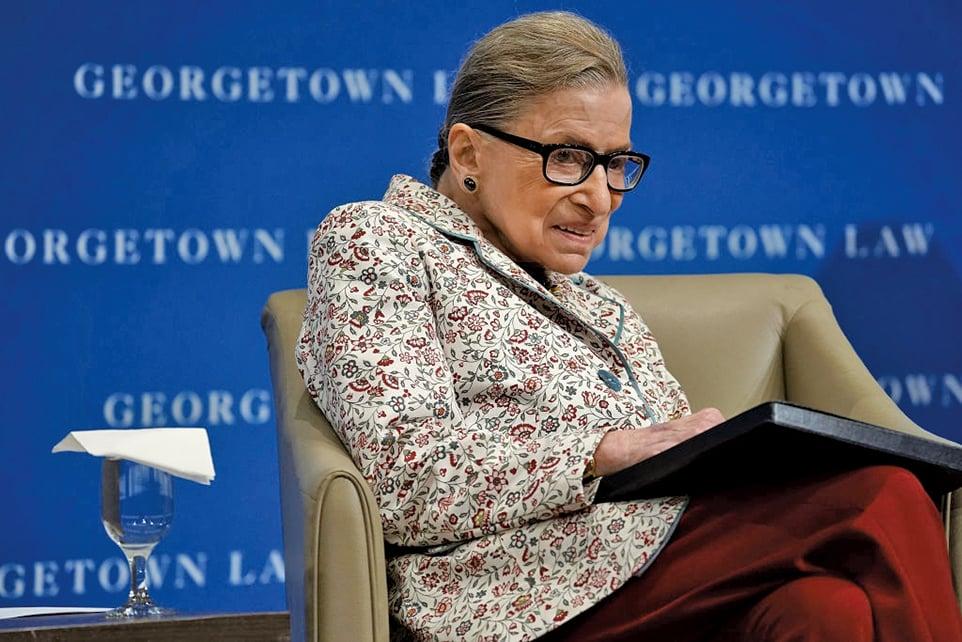 美國最高法院大法官金斯伯格(Ruth Bader Ginsburg)。(Getty Images)