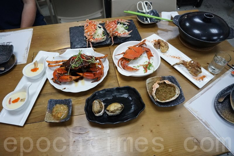 一個全蟹宴包括7款菜式。