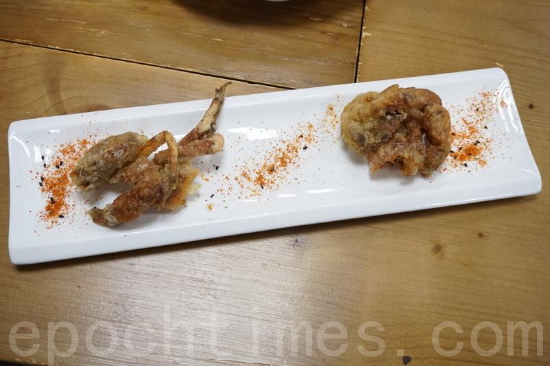 炸軟殼蟹用七味粉拌碟,軟殼蟹外脆內軟