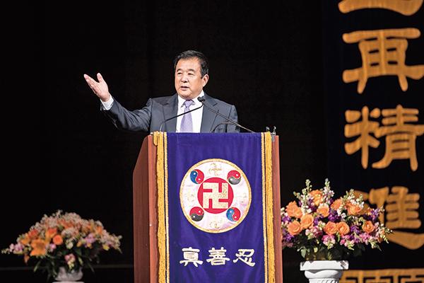 法輪功創始人李洪志先生6月21日親臨華盛頓法會講法。(戴兵/大紀元)