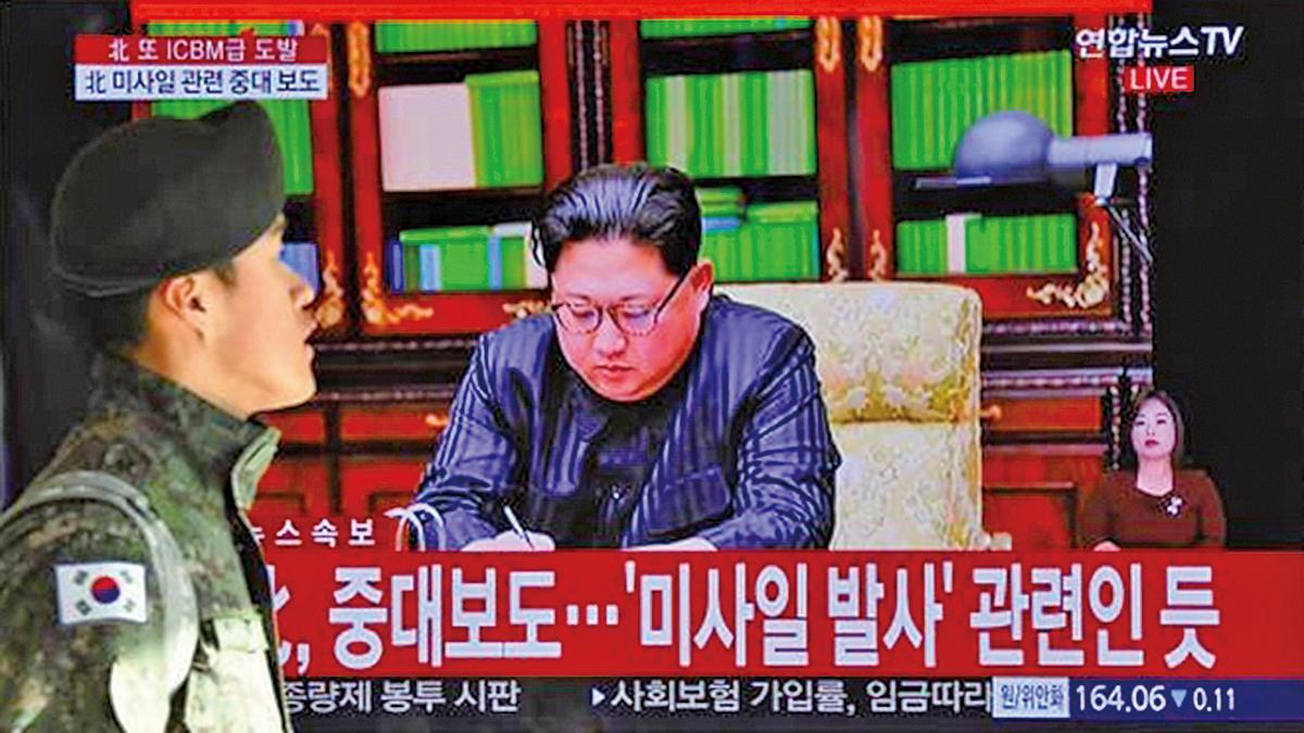 消息稱,美國為北韓設定了3個月的談判大限,試圖逼迫金正恩重新回到談判桌。(AFP)
